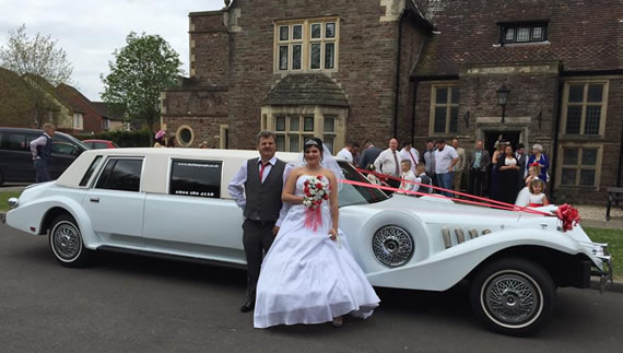 Excalibur wedding car with eight seats