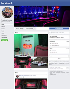 Screenshot of The Limo People Facebook page